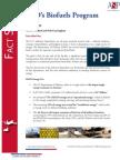 Factsheet- DoD's Biofuels Program