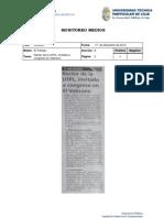 Informe de prensa semana del 21 de diciembre de 2012 al 04 de enero de 2013