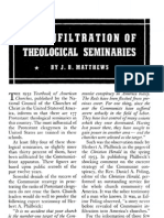 Red Infiltration of Theological Seminaries - J B Matthews