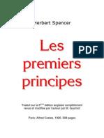 Herbert Spencer - Les Premiers Principes