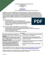 Research Methods syllabus