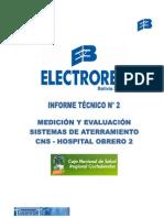 Medicion y Evaluacion Sistema de Tierra Hospital Obrero Cochabamba
