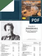 Mahler sinfonia N 9 Leonard Bernstein