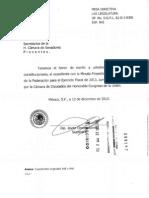 IMPC. Aprobación Ley Ingresos 2013