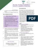 Addisons Guideline