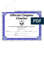 Official Chapter Charter