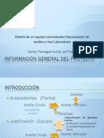 DISEÑO DE UN NEUTRALIZADOR BLANQUEADOR DE ACEITE CRUDO