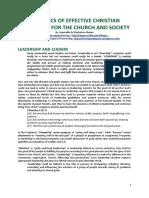 Dynamics of Effective Leadership