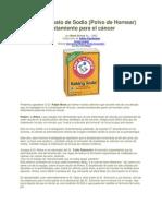 Bicarbonato de Sodio, Tratamiento para el cáncer