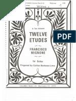 Francisco Mignone - Twelve Etudes for Guitar (fingered by Carlos Barbosa-Lima)