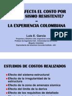 Como afectan el costo el diseño sismoresistente Ing Luis Garcia