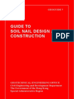 GEO GEOGUIDE 7 - Guide to Soil Nail Design and Construction  (2008)