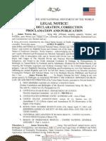 James Warren Bey - Judicial Notice