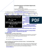 RI Science Professional Development and Student Opportunity Bulletin 1-4-13