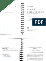 Semántica estructural. Investigación metodológica, Greimas