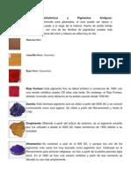 Pigmentos Prehistóricos y Pigmentos Antiguos