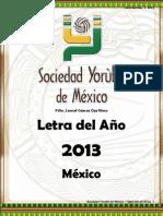 Letra del Año 2013 - Sociedad Yoruba de Mexico