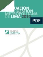 gestion municipal de Lima 2010