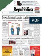 La Repubblica (05.01.2013)