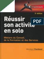 Reussir son activité en solo 5e ed. Dunod t