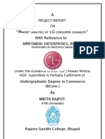 Project Report on LG