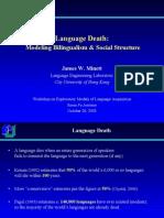 Language Death - Modelling Bilingualism & Social Structure