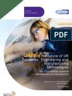 Skills & Future of UK Sci, Eng & Manuf