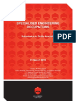 Specialised Engineering Occupations