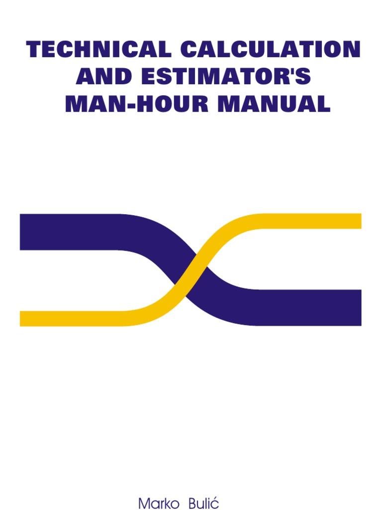 estimation man hour pipe fluid conveyance valve rh scribd com estimators piping man hours manual Man Hour Display