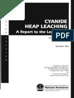 Ger Misc Cyanide Heap Leaching 1994