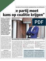 HBVL 05/01/'13 - Grootste partij moet kans op coalitie krijgen