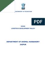 Rajasthan State Livestock Development Policy