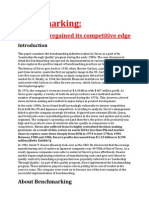 Benchmarking Xerox Case Study