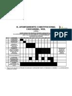 CRONOGRAMA PARA CENTRO DE DESARROLLO, RECREACION   PARA Y SALUD