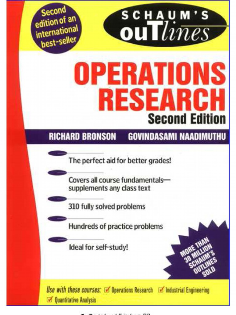 schaum s outline operations research rh scribd com