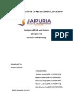 risk and return analysis
