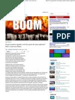Impacto das explosões