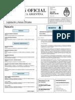 Boletin oficial de la Republica Argentina