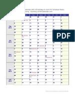School Calendar 2012 2013 US Holiday Large
