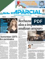 EL IMPARCIAL PRIMERA PLANA 19 DE DICIEMBRE DEL 2012 FALLA TRIBUNAL A FAVOR DE SERGIO ZARAGOZA