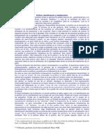 Política, identificación y subjetivación