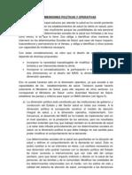 DIMENSIONES POLÍTICAS Y OPERATIVAS