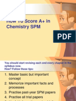 How To Score A+ in Chemistry SPM