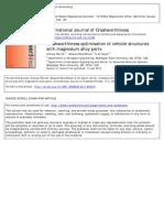 Crashworthiness Optimisation of Vehicle Structures With Magnesium Alloy Parts