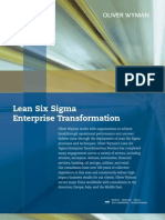 Lean Six Sigma Enterprise Transformation