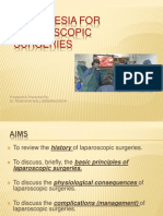 Anaesthesia for Laparoscopic Sx