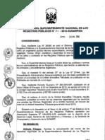 Derechos Registrales 2013