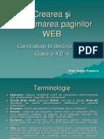 Crearea şi programarea paginilor WEB