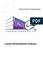 1 Linear Programming Problem