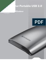 Manuel disque dur Verbatim 2,5 pouces USB